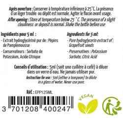 Dosierung des Grapefruitsamenextrakts