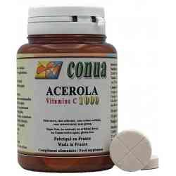 Tableta ranurada de vitamina C de acerola