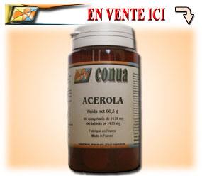 Acérola vitamine C en comprimé