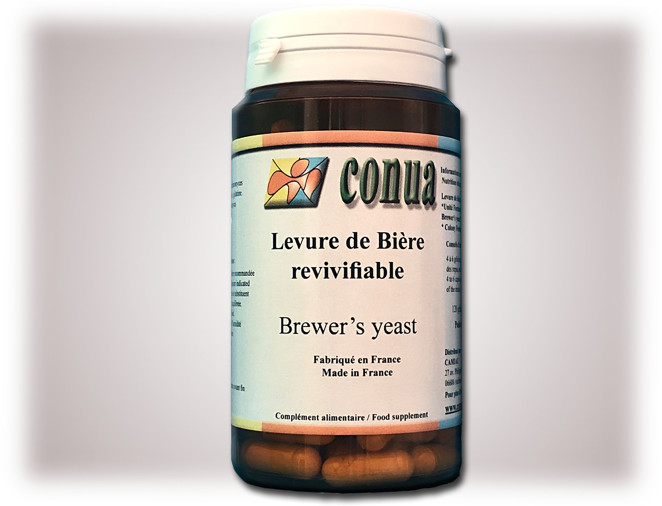 Buy Live beer yeast revivifiable 120 powder capsules 19 billion CFU